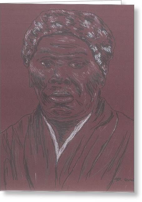 Harriet Tubman Greeting Card by Bob Gumbs