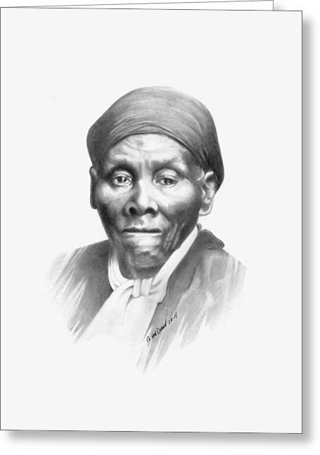 Harriet Tubman Greeting Card by Gordon Van Dusen