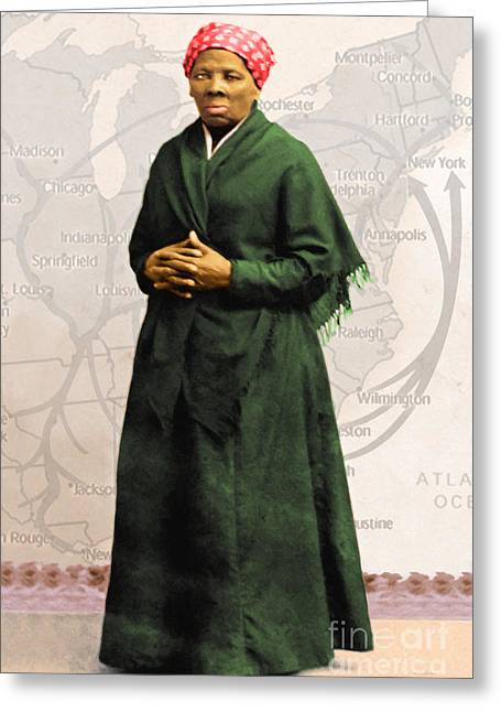 Harriet Tubman The Underground Railroad 20140210v2 Greeting Card by Wingsdomain Art and Photography