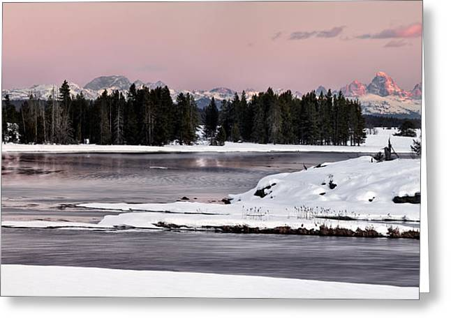 Harriman Winter Light Greeting Card by Leland D Howard