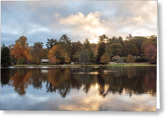 Harris Lake Highlands Nc Greeting Card by Allen Carroll