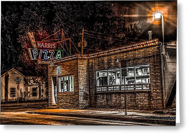 Harris Pizza #3 Greeting Card by Ray Congrove