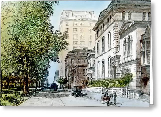 Harrison Residence East Rittenhouse Square Philadelphia C 1890 Greeting Card