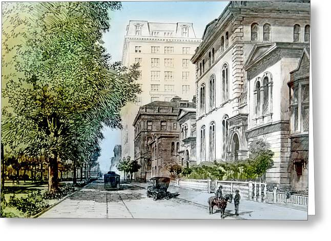 Harrison Residence East Rittenhouse Square Philadelphia C 1890 Greeting Card