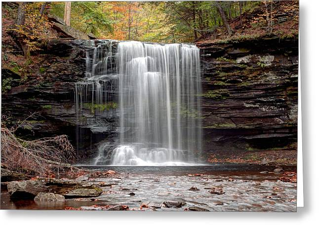 Harrison Wright Falls As Autumn Arrives Greeting Card