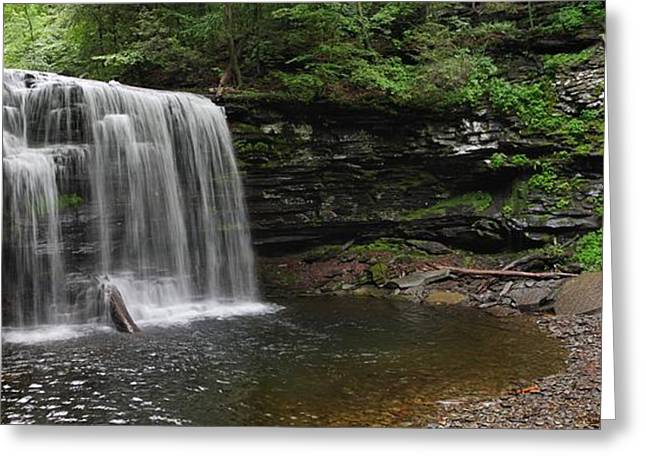 Harrison Wright Falls Greeting Card