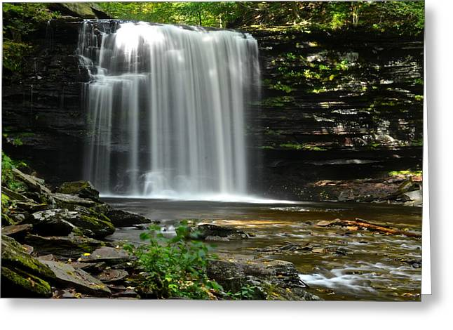 Harrison Wright Falls Greeting Card by Frozen in Time Fine Art Photography