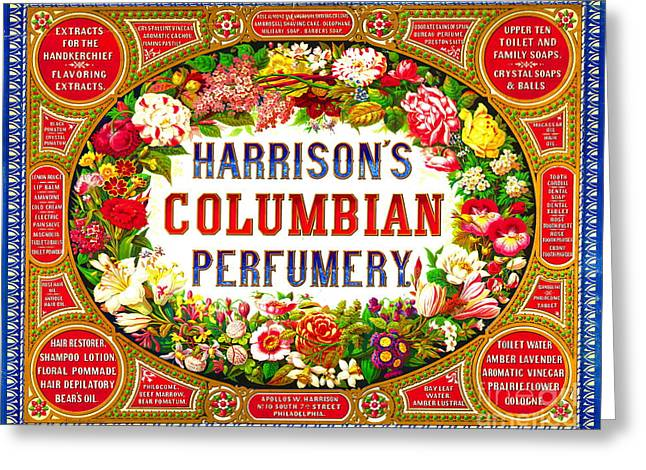 Harrison's Columbian Perfumery 1854 Greeting Card
