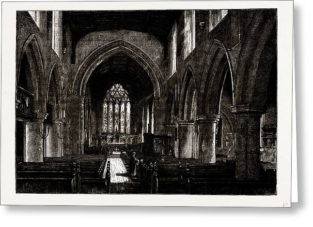 Harrow Church, Interior, Uk Greeting Card