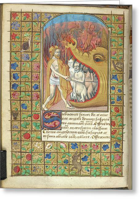 Harrowing Of Hell Greeting Card by British Library