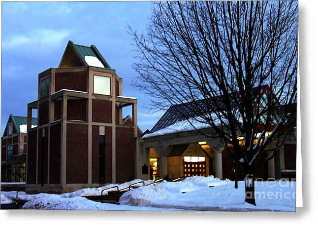 Harry C Trexler Library - Muhlenberg College Greeting Card by Jacqueline M Lewis
