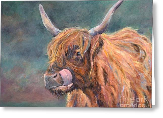 Harry Coo Greeting Card by Stephanie Allison
