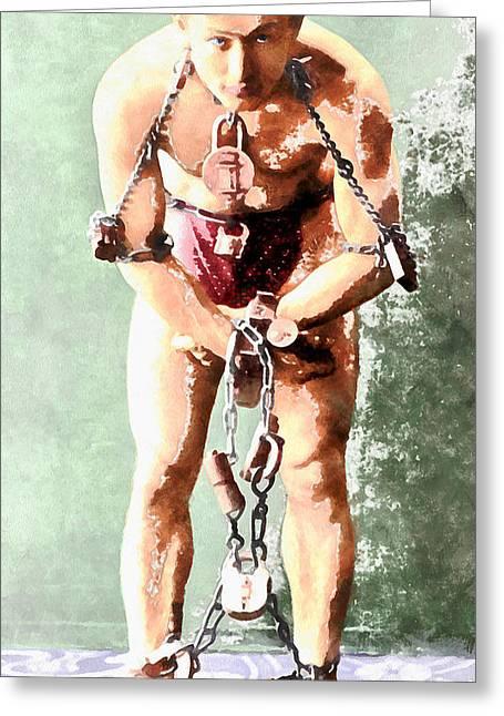 Harry Houdini 20140222wc Greeting Card