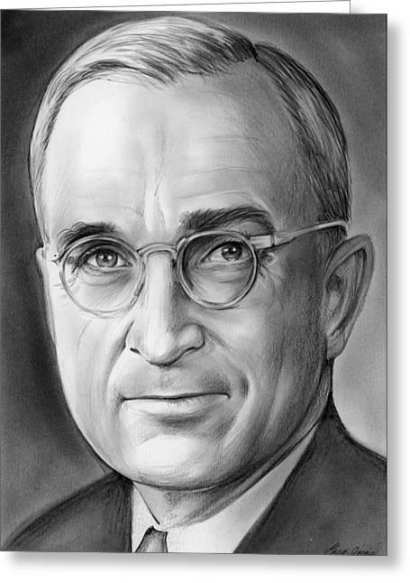 Harry S. Truman Greeting Card by Greg Joens