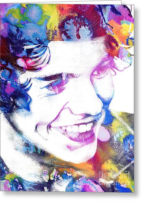 Harry Styles - One Direction Greeting Card