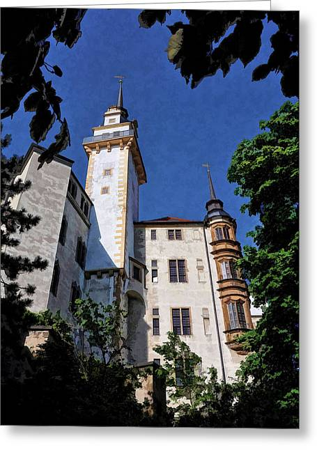 Hartenfels Castle - Torgau Germany Greeting Card