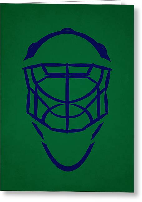 Hartford Whalers Goalie Mask Greeting Card by Joe Hamilton