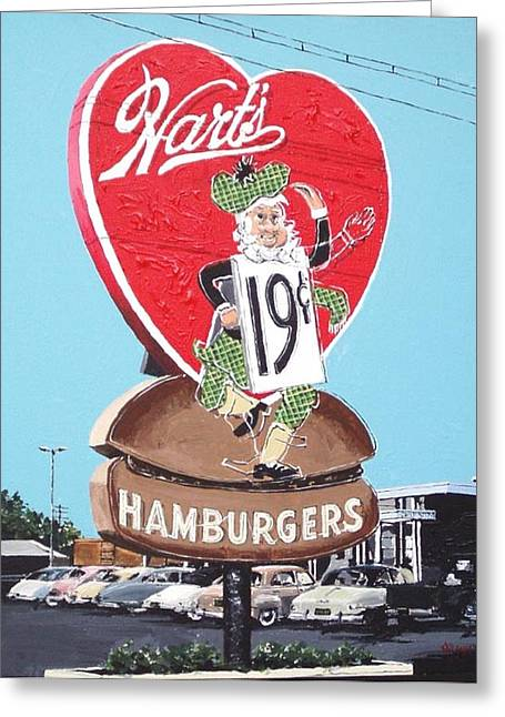 Hart's Greeting Card by Paul Guyer