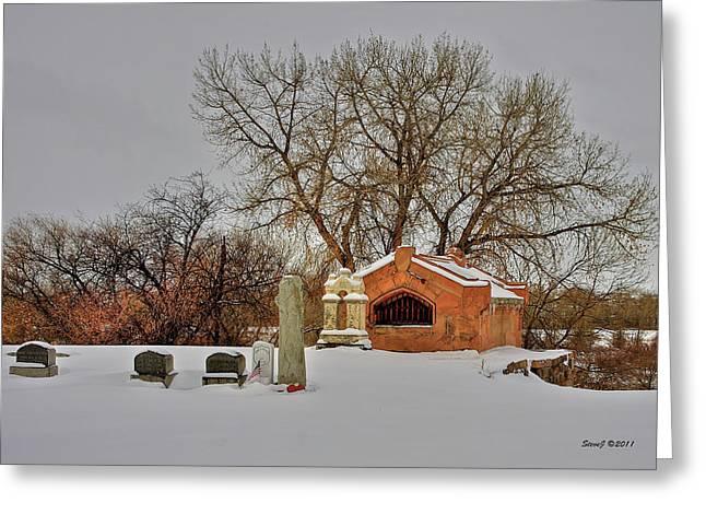 Hartsville Jones Mausoleum Greeting Card by Stephen  Johnson