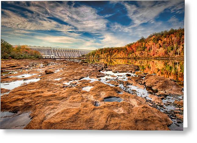 Hartwell Dam Greeting Card by Brent Craft