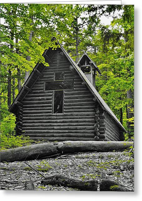 Hartwick Pines Chapel Bwg Greeting Card