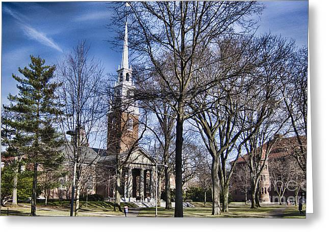 Harvard University Old Yard Church Greeting Card
