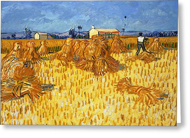 Harvest In Provence, June 1888 Greeting Card by Vincent van Gogh