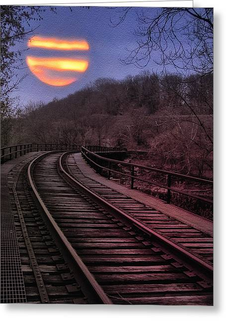Harvest Moon Greeting Card by Bill Cannon