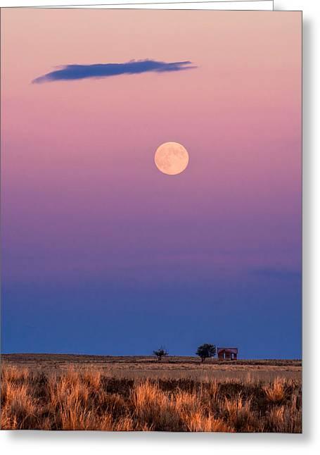 Harvest Moon Greeting Card by Bryce Bradford