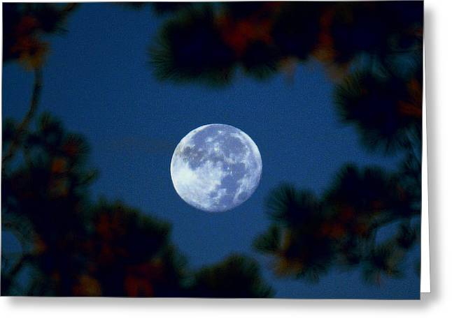 Greeting Card featuring the photograph Harvest Moon Color 2013-10-20 by Jeremy McKay