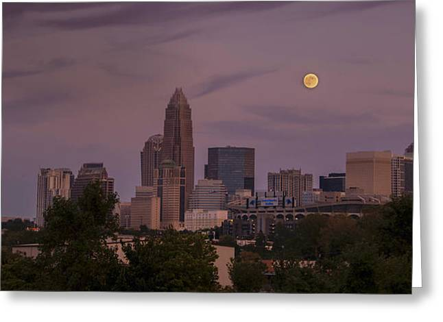 Greeting Card featuring the photograph Harvest Moon Over Charlotte by Serge Skiba