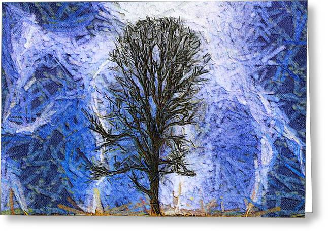 Harvest Storm Greeting Card by Dan Sproul
