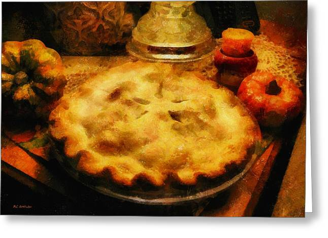 Harvest Table Greeting Card by RC deWinter