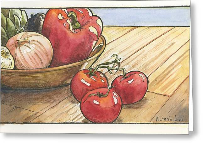 Harvest Table Greeting Card