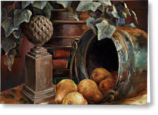 Harvest Time Greeting Card by Gini Heywood