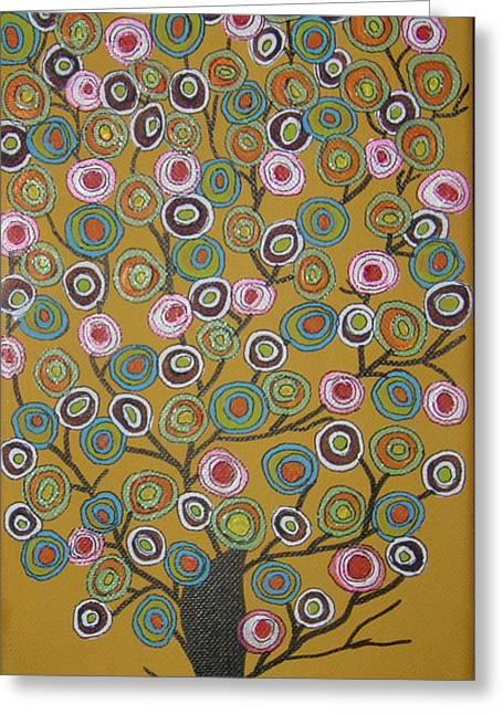 Harvest Tree Greeting Card by Marcia Weller-Wenbert