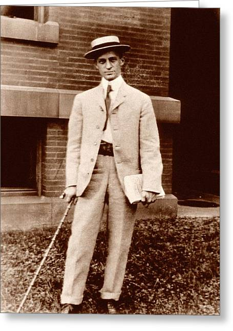 Harvey Cushing Greeting Card by National Library Of Medicine