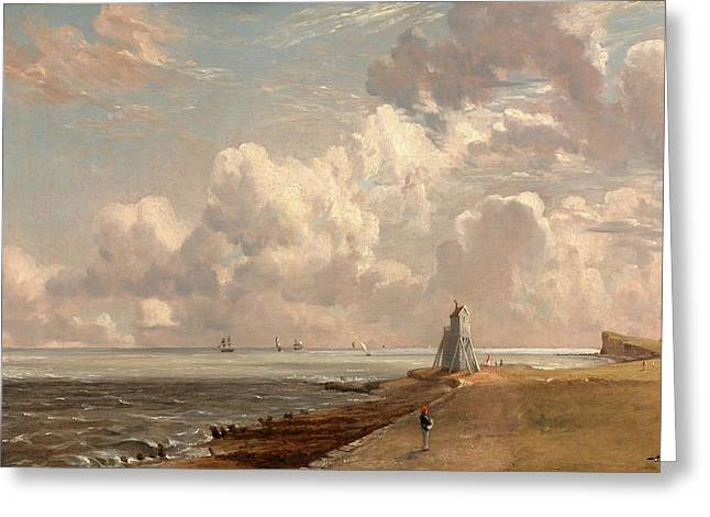 Harwich The Low Lighthouse And Beacon Hill Harwich Greeting Card