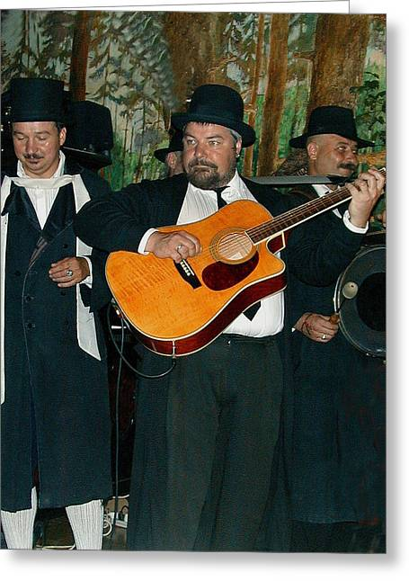 Hasidic Jews In Crakow Poland Greeting Card by Bill Marder