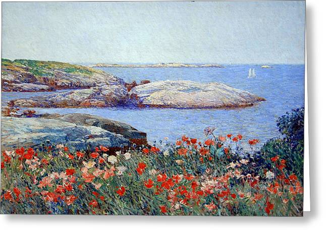 Hassam's Poppies On The Isles Of Shoals Greeting Card
