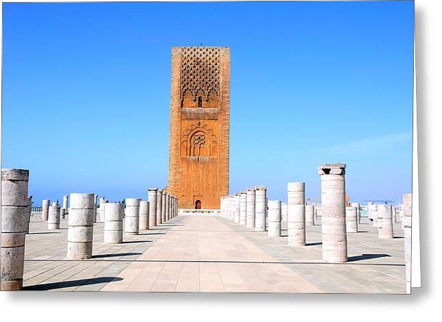 Hassan Tower Rabat Greeting Card