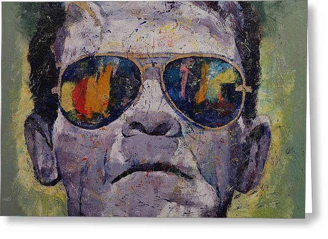 Frankenstein Greeting Card by Michael Creese