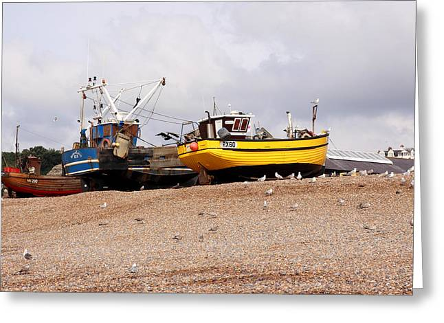 Hastings Fishing Boats Greeting Card