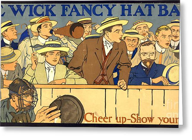 Hat-band Advertising Poster 1910 Greeting Card by Padre Art