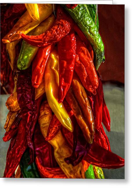Hatch Chili Peppers Greeting Card by Ken Smith