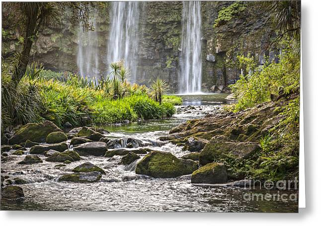 Hatea River And Whangarei Falls New Zealand Greeting Card by Colin and Linda McKie