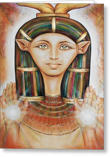 Hathor Rendition Greeting Card
