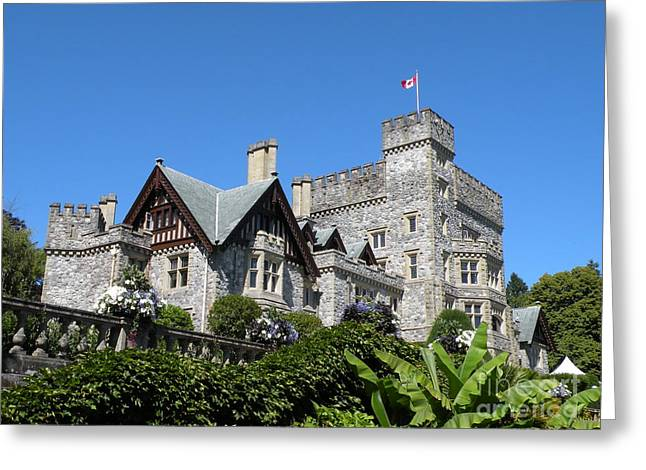 Hatley Castle Greeting Card by Val Carosella