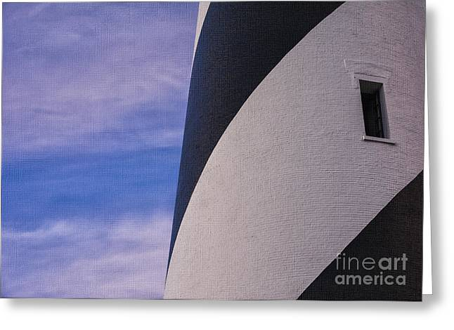 Hatteras Detail In Canvas Greeting Card by Terry Rowe