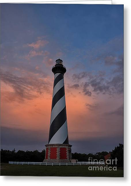 Hatteras Lighthouse Dawn Greeting Card
